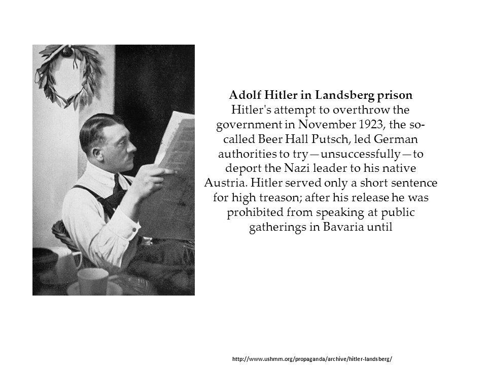 Adolf Hitler in Landsberg prison