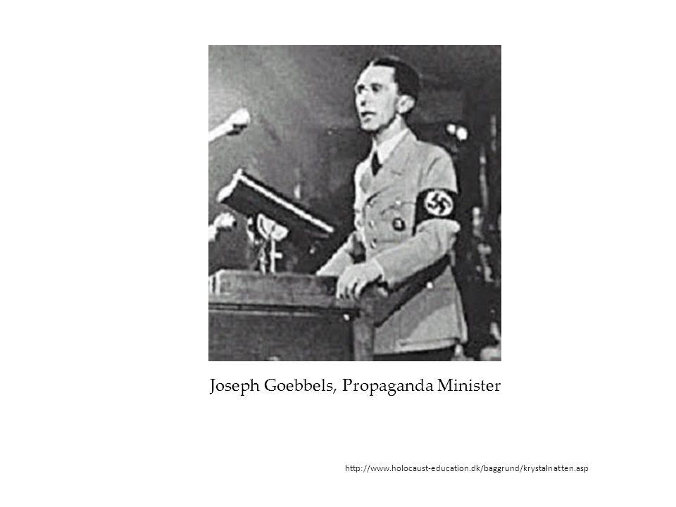 Joseph Goebbels, Propaganda Minister