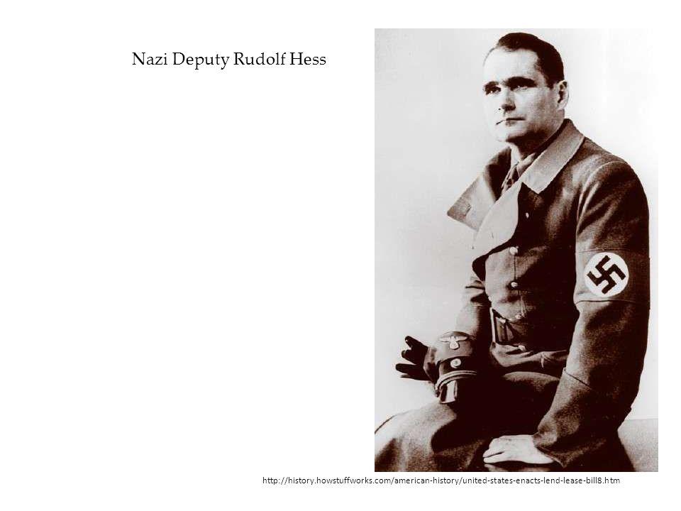 Nazi Deputy Rudolf Hess