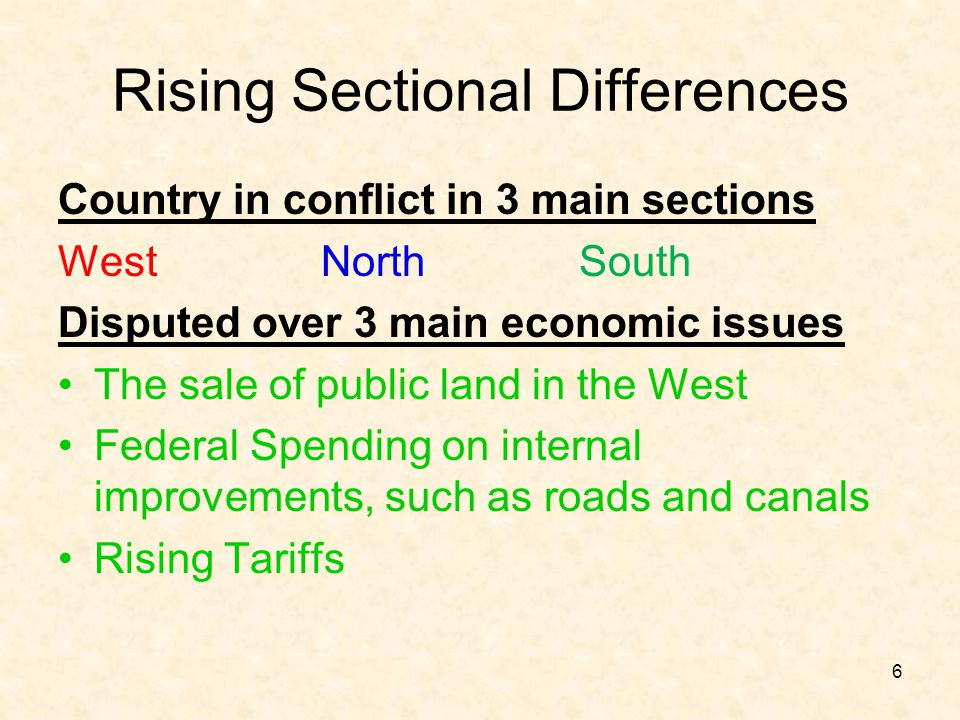 Rising Sectional Differences