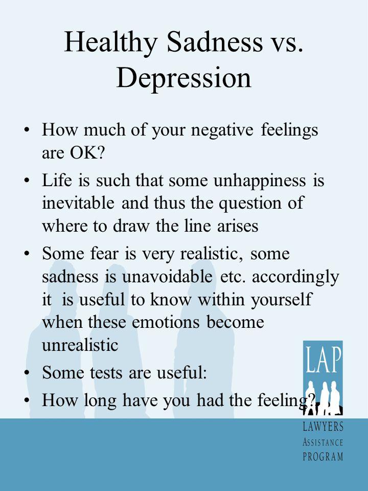 Healthy Sadness vs. Depression