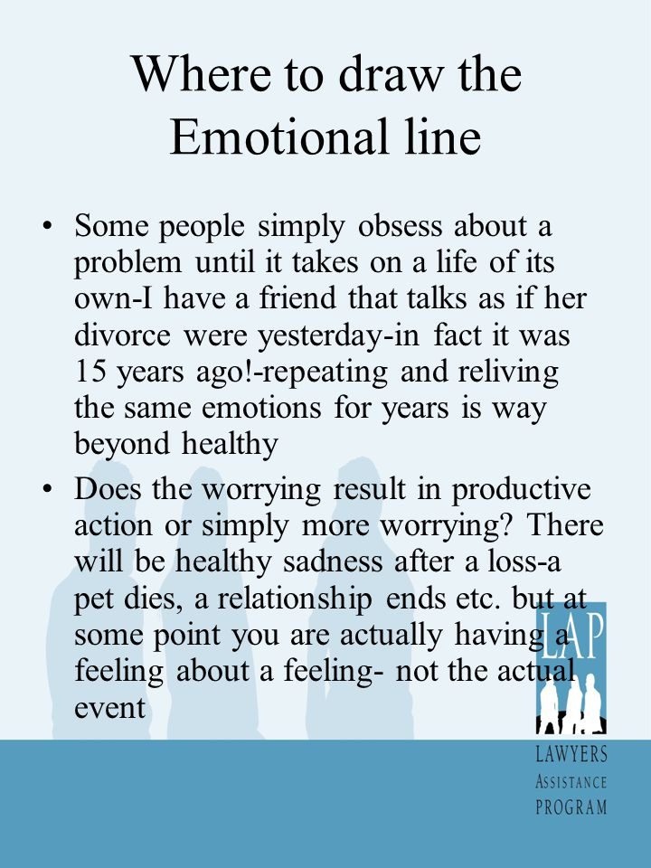 Where to draw the Emotional line