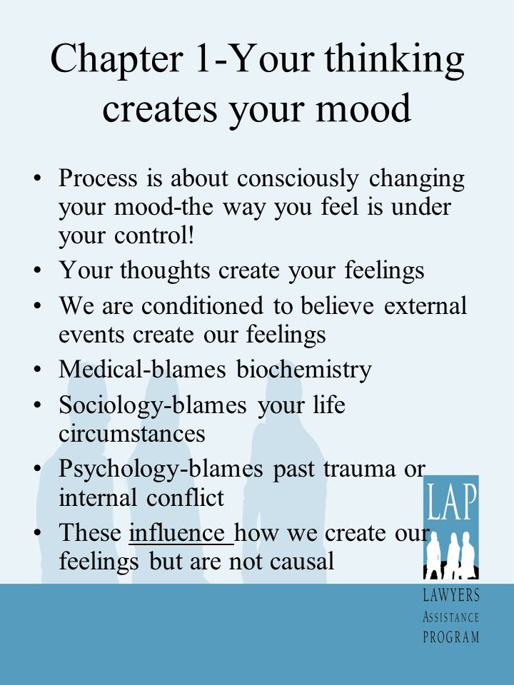 Chapter 1-Your thinking creates your mood