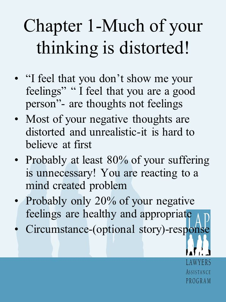 Chapter 1-Much of your thinking is distorted!