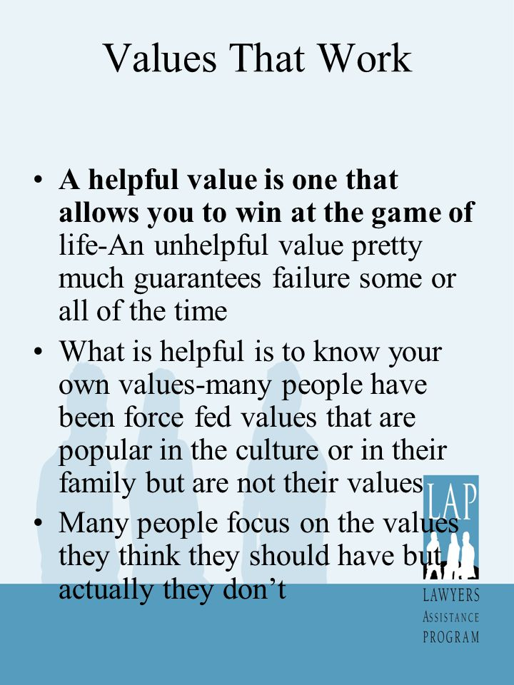 Values That Work