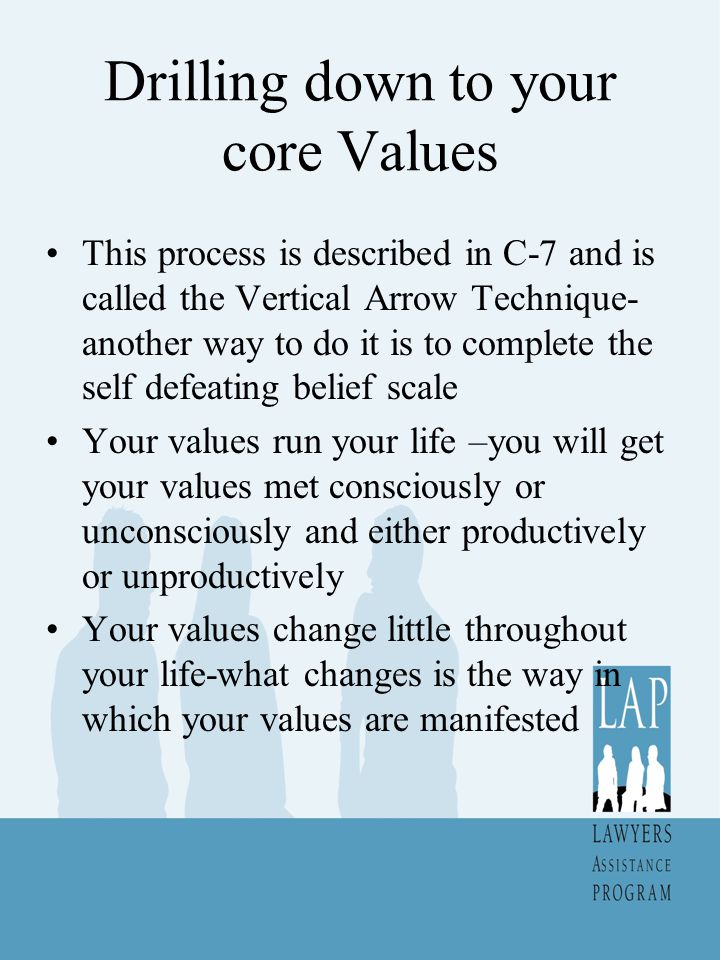 Drilling down to your core Values