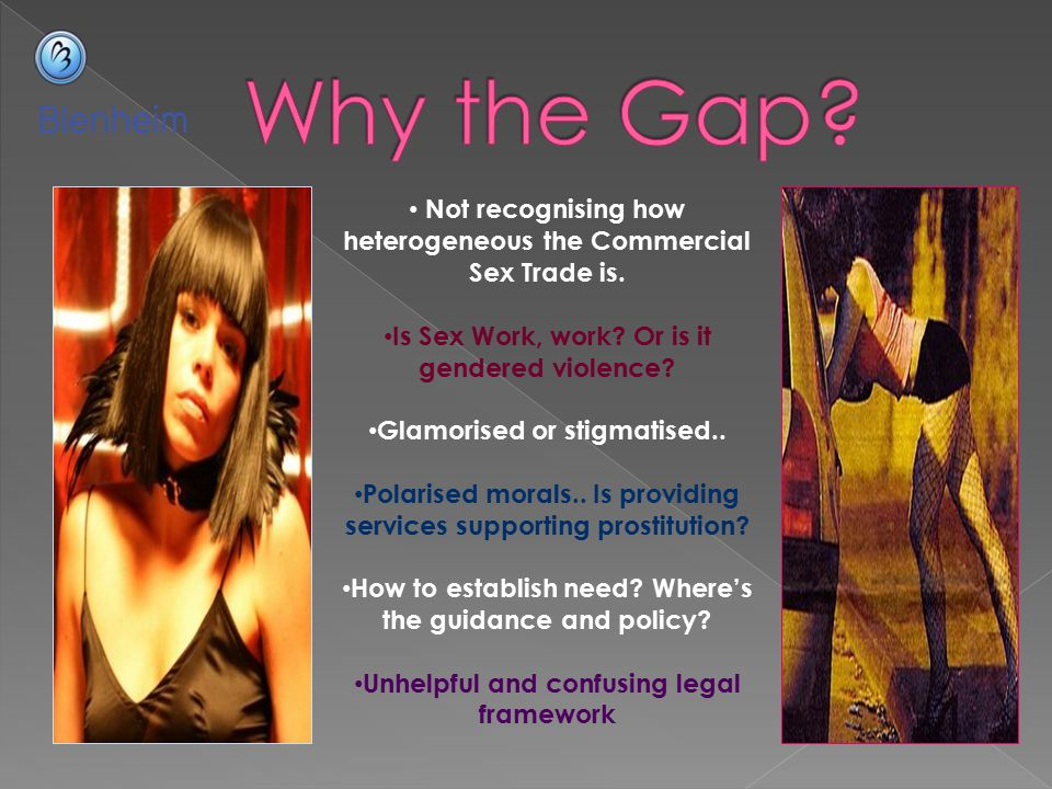 Why the Gap Not recognising how heterogeneous the Commercial Sex Trade is. Is Sex Work, work Or is it gendered violence