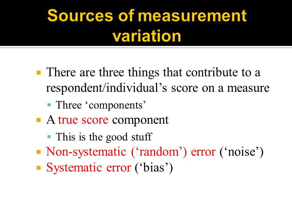 Sources of measurement variation
