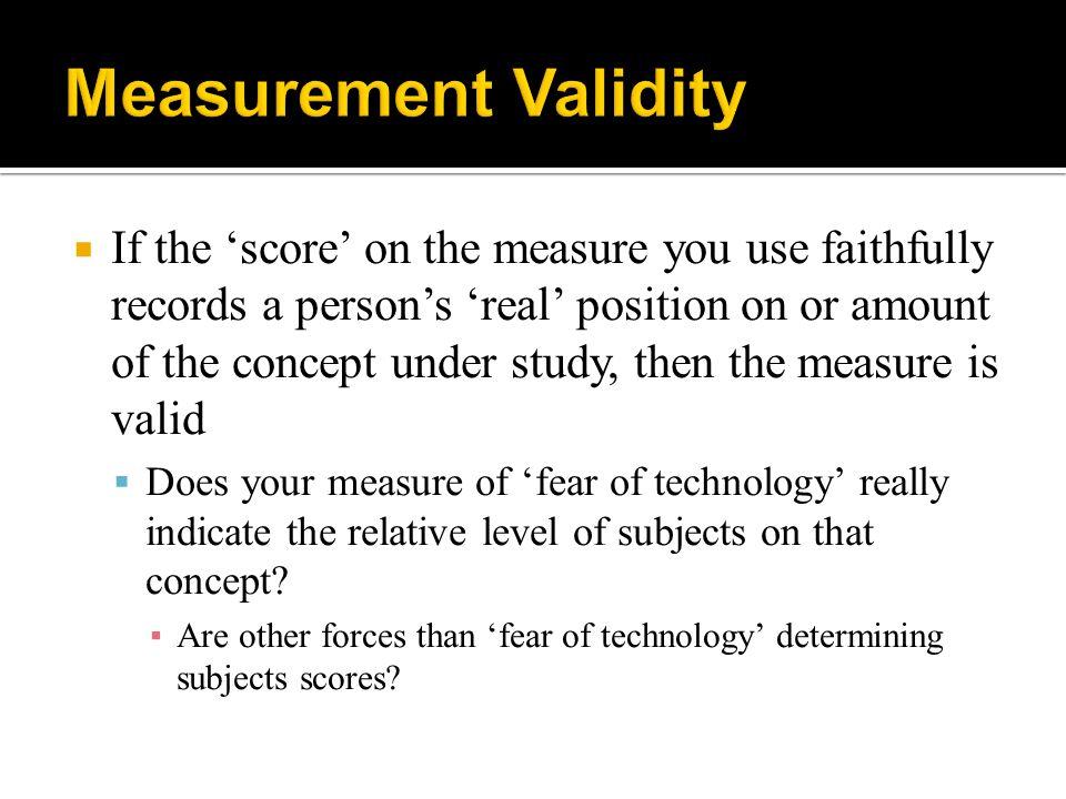 Measurement Validity