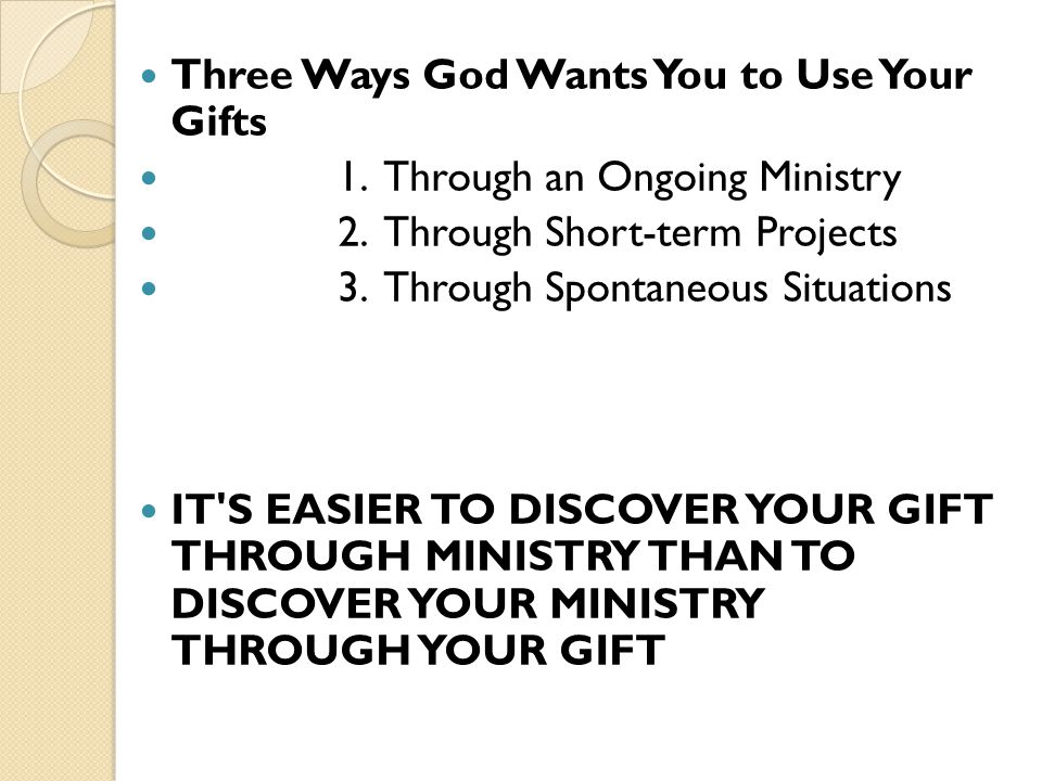 Three Ways God Wants You to Use Your Gifts