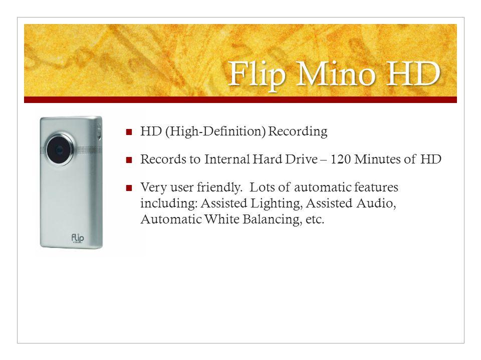Flip Mino HD HD (High-Definition) Recording