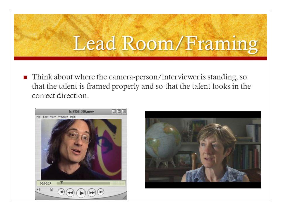 Lead Room/Framing