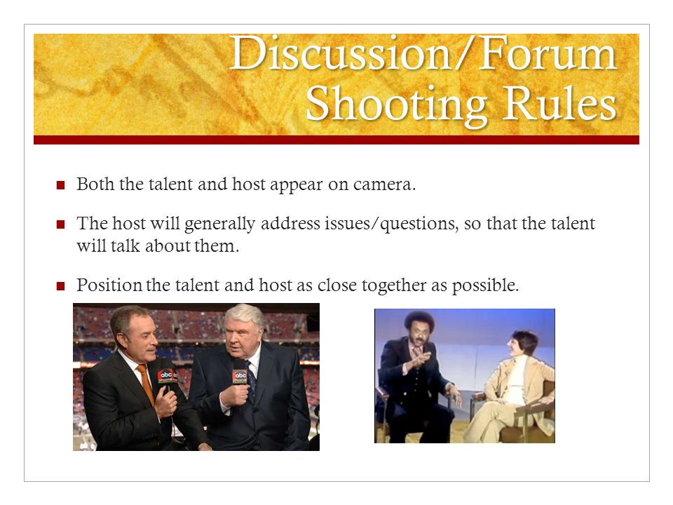 Discussion/Forum Shooting Rules