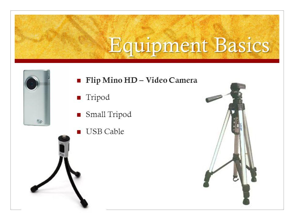 Equipment Basics Flip Mino HD – Video Camera Tripod Small Tripod