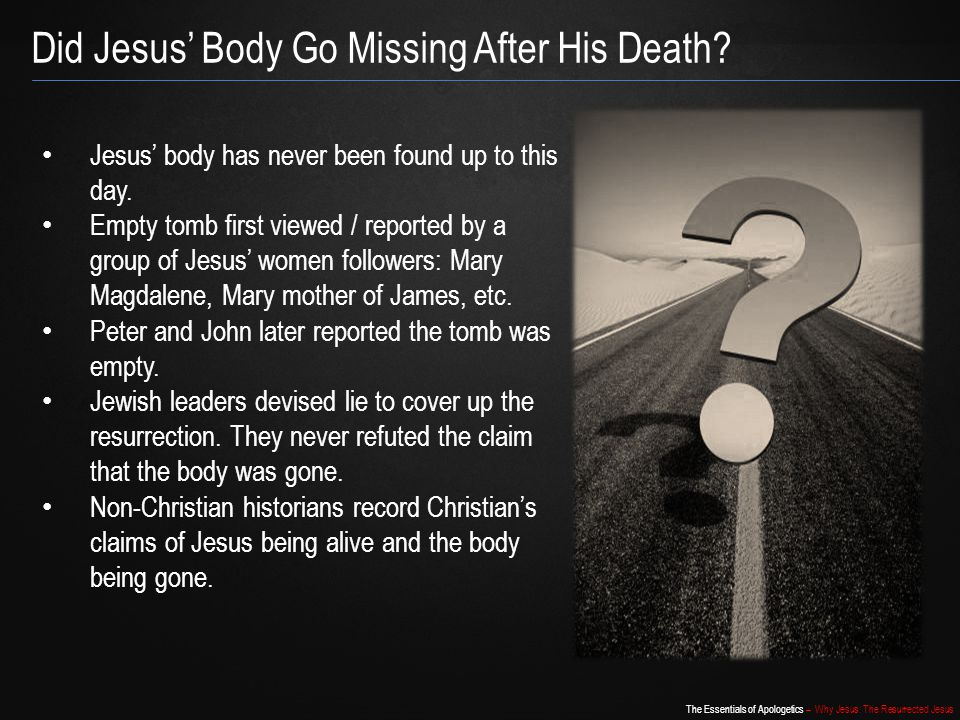 Did Jesus' Body Go Missing After His Death