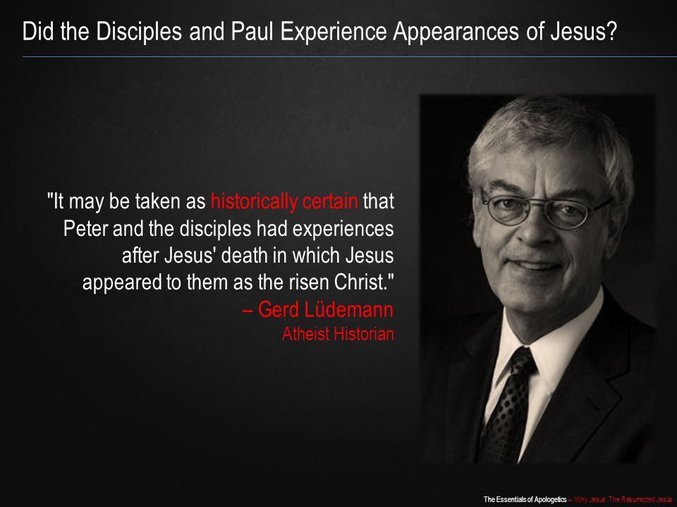 Did the Disciples and Paul Experience Appearances of Jesus