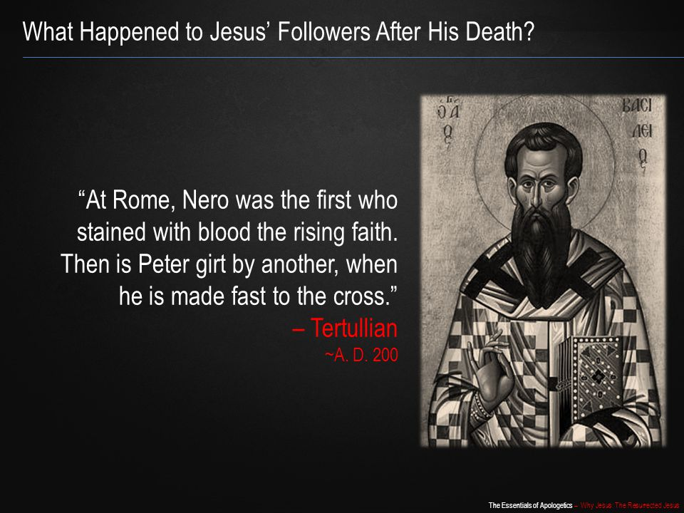 What Happened to Jesus' Followers After His Death