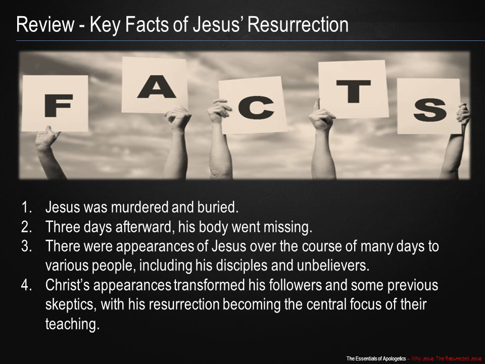 Review - Key Facts of Jesus' Resurrection