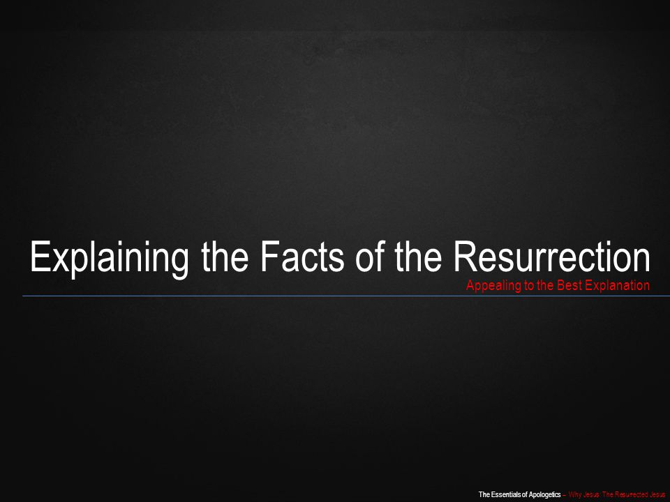 Explaining the Facts of the Resurrection