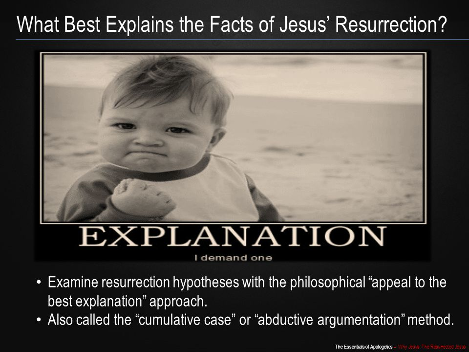 What Best Explains the Facts of Jesus' Resurrection