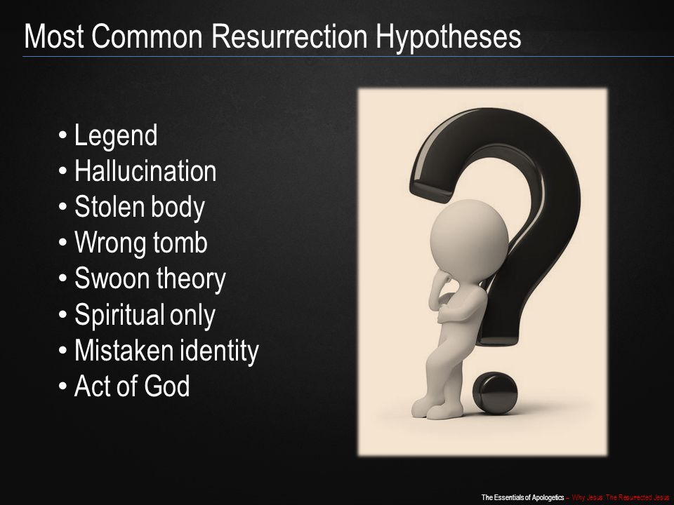 Most Common Resurrection Hypotheses