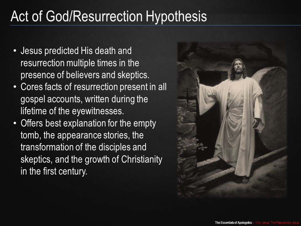 Act of God/Resurrection Hypothesis