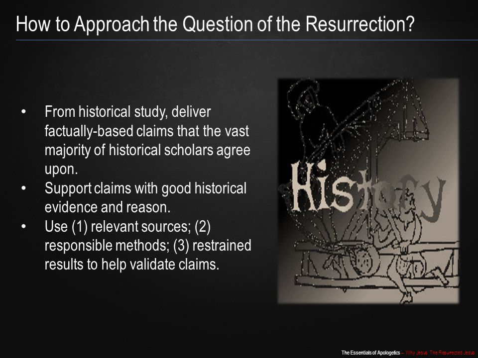 How to Approach the Question of the Resurrection