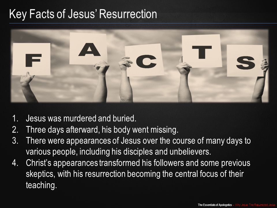 Key Facts of Jesus' Resurrection