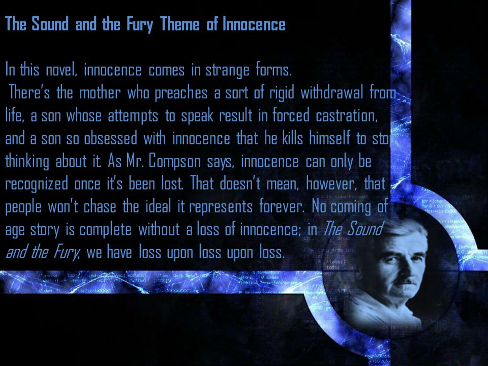 The Sound and the Fury Theme of Innocence