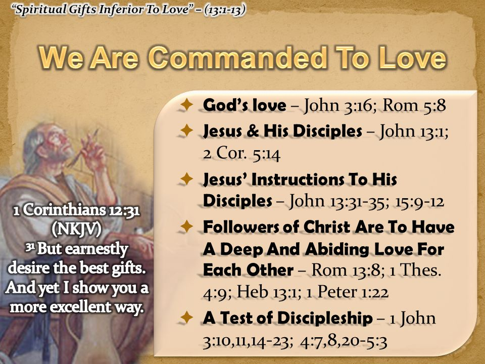 We Are Commanded To Love