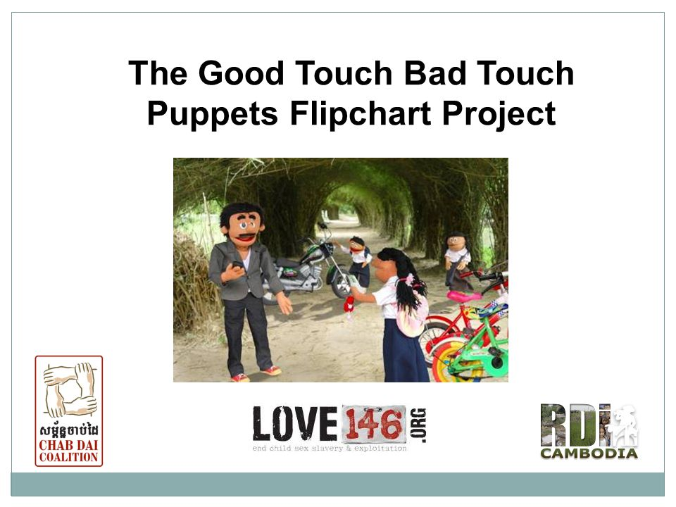 The Good Touch Bad Touch Puppets Flipchart Project