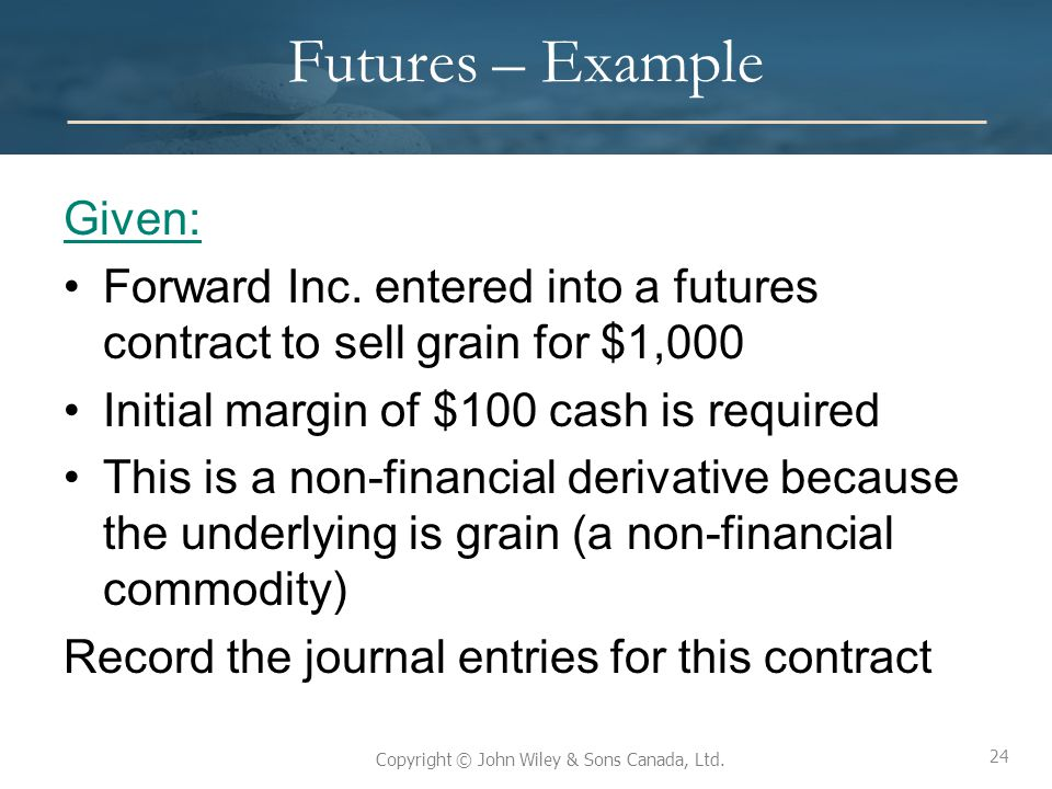 Futures – Example Given:
