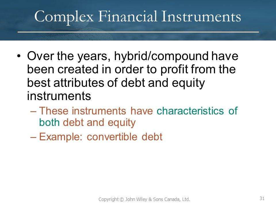 Complex Financial Instruments