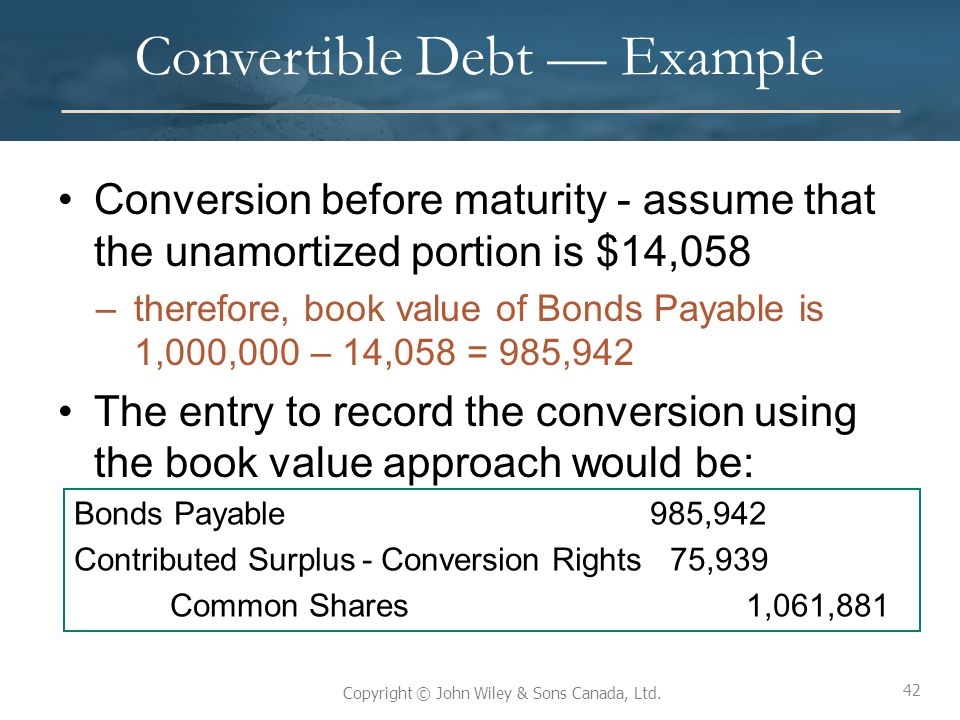 Convertible Debt — Example