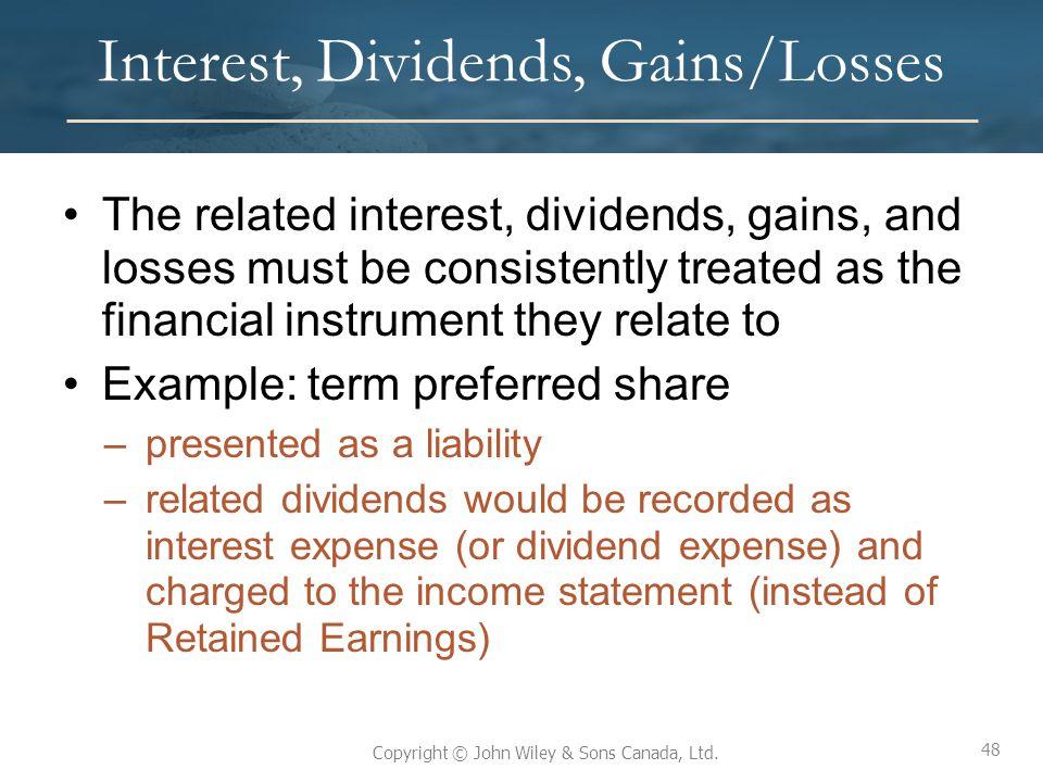 Interest, Dividends, Gains/Losses