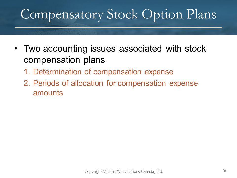 Compensatory Stock Option Plans