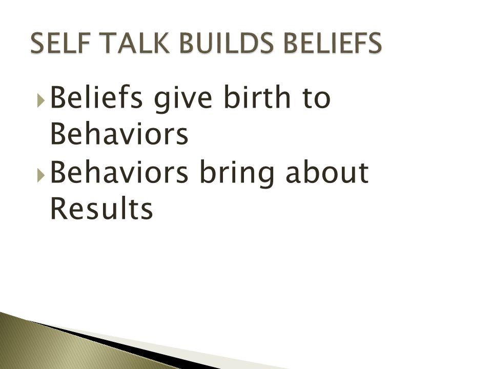 SELF TALK BUILDS BELIEFS