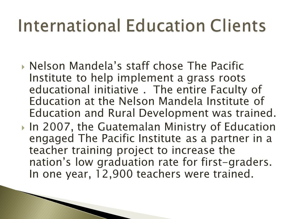 International Education Clients