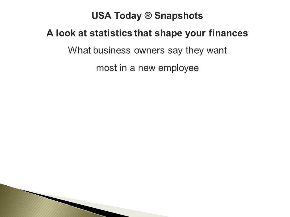 A look at statistics that shape your finances