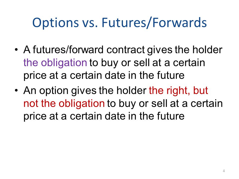 Options vs. Futures/Forwards