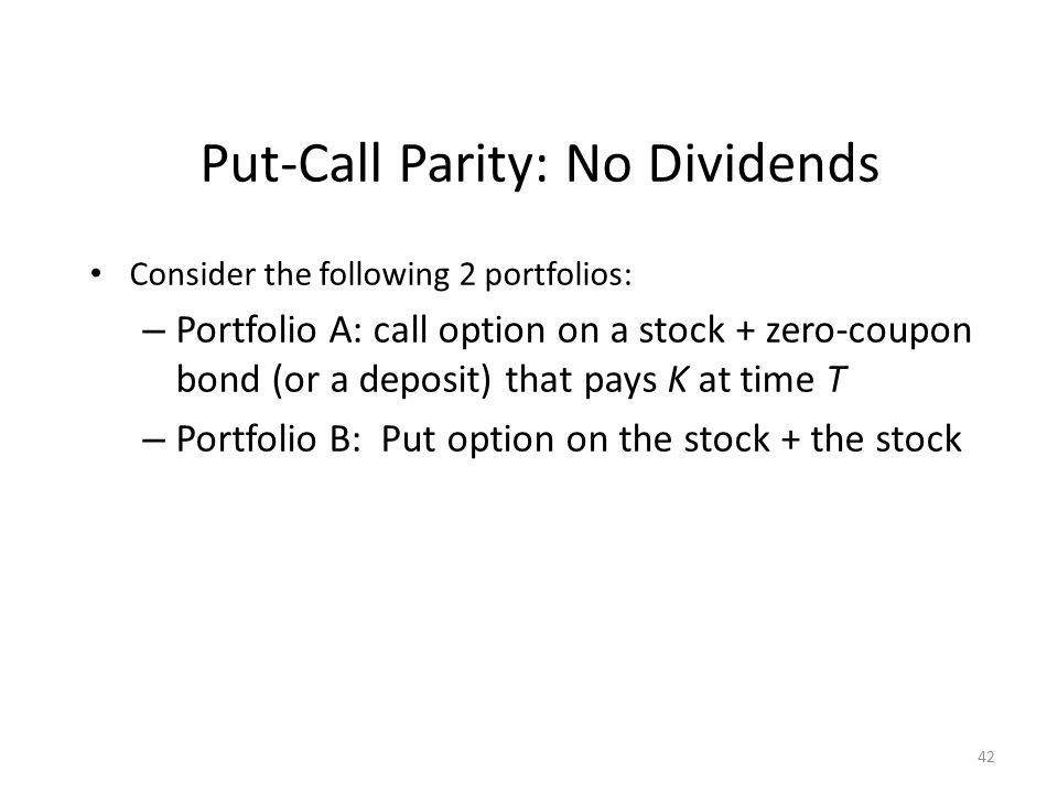 Put-Call Parity: No Dividends