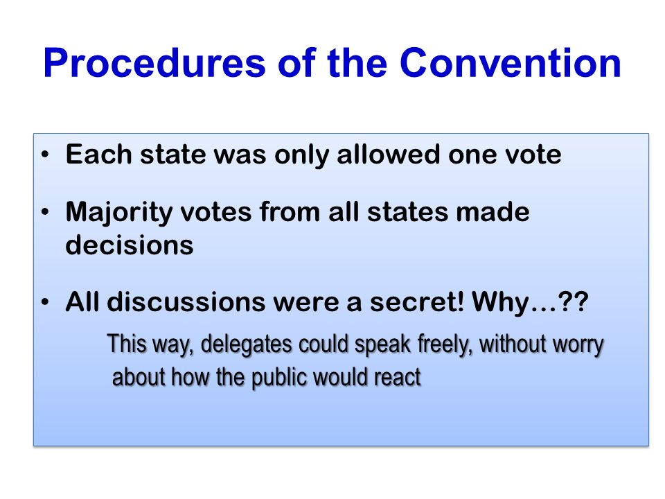 Procedures of the Convention