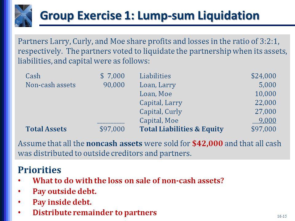 Group Exercise 1: Lump-sum Liquidation