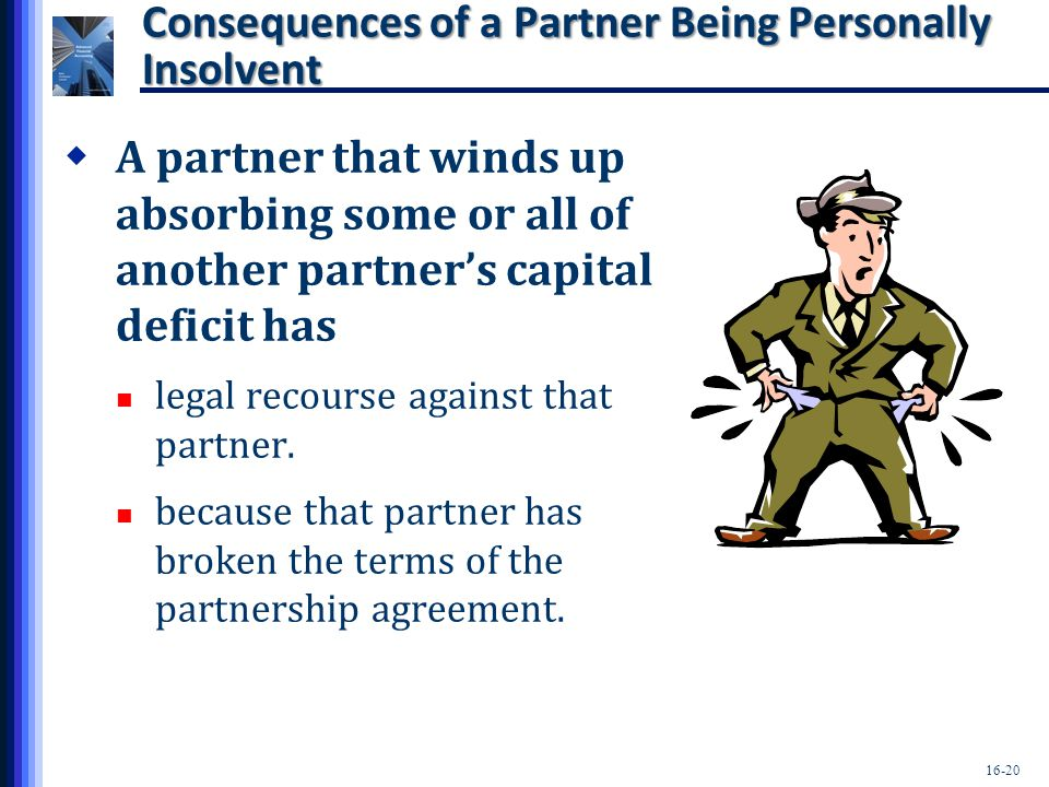 Consequences of a Partner Being Personally Insolvent