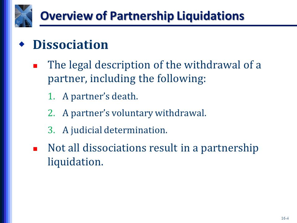 Overview of Partnership Liquidations