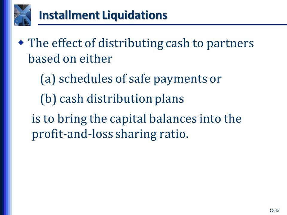 Installment Liquidations