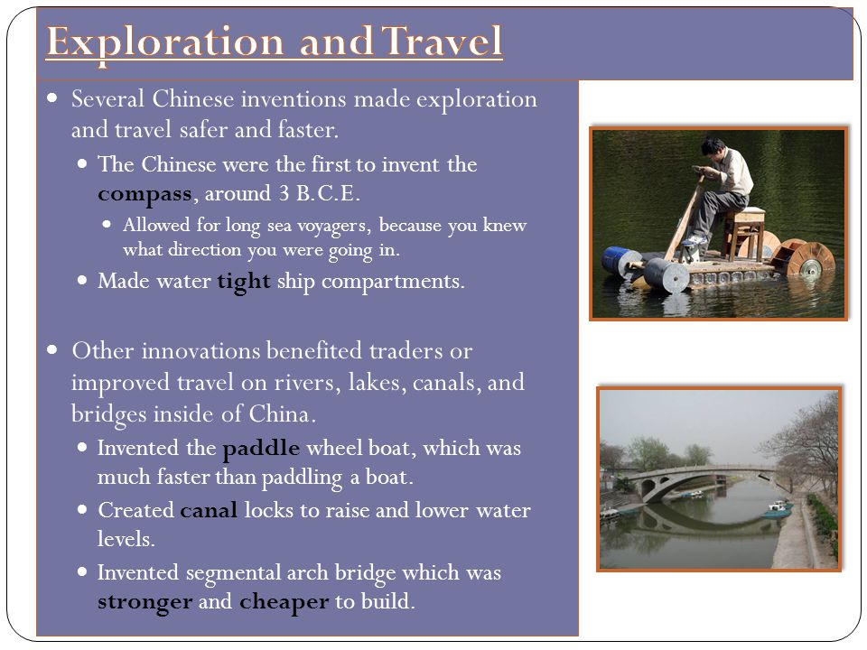Exploration and Travel