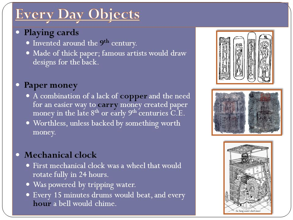 Every Day Objects Playing cards Paper money Mechanical clock
