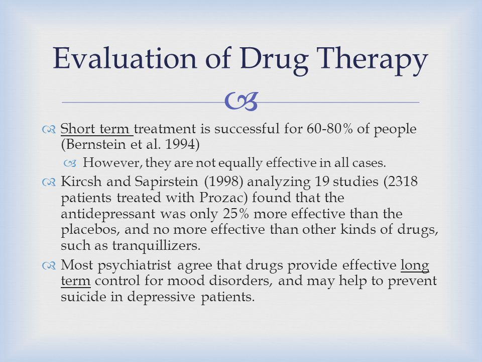 Evaluation of Drug Therapy