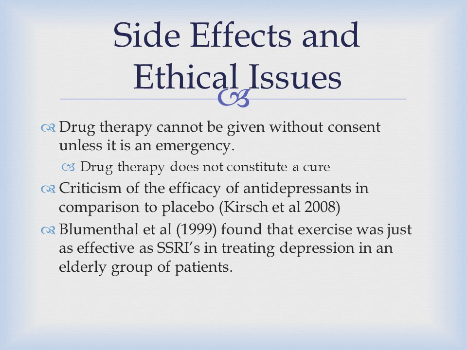 Side Effects and Ethical Issues